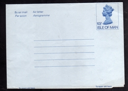 ISLE OF MAN ISOLA 1981 AEROGRAM AEROGRAMME AIR LETTER AEROGRAMMA 10 1/2p UNUSED NUOVO - Isola Di Man