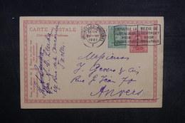 BELGIQUE - Entier Postal + Complément De Bruxelles Pour Anvers En 1921 - L 37545 - Stamped Stationery