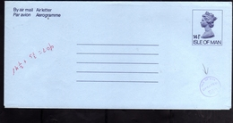 ISLE OF MAN ISOLA 1981 AEROGRAM AEROGRAMME AIR LETTER AEROGRAMMA 14 1/2p + 5 1/2p UNUSED NUOVO - Isola Di Man
