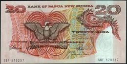 PAPUA NEW GUINEA - 20 Kina Nd.(1989-2001) {Signature 3} {sign. ToRobert & Vele} UNC P.10 A - Papua Nuova Guinea