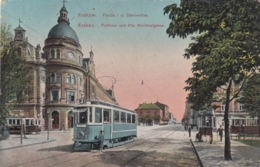AK - Krakau - Strassenbahn In Der Weichselgasse Mit Altenm Posthaus - 1916 - Polen