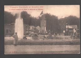 Brussel - Exposition Universelle De Bruxelles 1910 - Le Grand Bassin Vu Vers Le Bois De La Cambre - Animée - Expositions Universelles