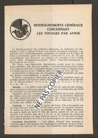 AIR FRANCE LIVRET 12 Pages 1956 MOYENT ORIENT RENSEIGNEMENTS GENERAUX VOYAGES En AVIONS - PARIS BEYROUTH Etc .... - Autres