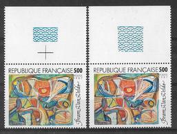 France 1987 - Variété - Oeuvre De Bram Van Velde - Y&T N° 2473 ** Neuf Luxe Voir Descriptif. - Varieties: 1980-89 Mint/hinged