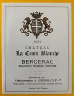 11230 - Château  La Croix Blanche 1981 - Bergerac
