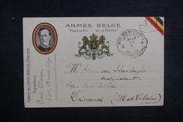 BELGIQUE - Carte FM Pour La France En 1918 - L 37550 - Guerra 14 – 18