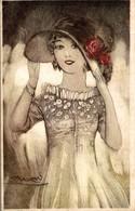 ILLUSTRATION SIGNEE MAUZAN PORTRAIT DE FEMME - Mauzan, L.A.