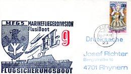 """(FC-3) BRD Cachetumschlag Bundeswehr """"MFG5 MARINEFLIEGERDIVISION MFlgDiv FlusiBoot FL-9"""" EF BRD TSt 19.7.1977 KIEL 1 - BRD"""
