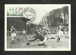 CONGO BELGE - BELGISCH CONGO - Carte MAXIMUM 1960 - PRO JUVENTUTE - FOOTBALL - Congo Belga
