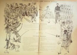 DESSIN-GRAY HENRI-L'ESCRIME (56x38)-1885-D257 - Vieux Papiers