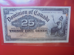CANADA 25 CENTS 2 JANVIER 1900 CIRCULER/BELLE QUALITE (B.5) - Kanada