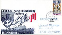 """(FC-3) BRD Cachetumschlag Bundeswehr """"MFG5 MARINEFLIEGERDIVISION MFlgDiv FlusiBoot FL-10"""" EF BRD TSt 19.7.1977 KIEL 1 - BRD"""