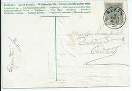 Fantasiekaart Met OCB 53 - Afstempeling REETH - COBA 8 - 1893-1907 Armoiries