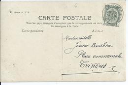 Fantasiekaart Met OCB 53 - Afstempeling TRIVIERES - COBA 15 - 1893-1907 Armoiries