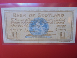 ECOSSE ONE POUND 1966 CIRCULER BELLE QUALITE (B.5) - [ 3] Scotland