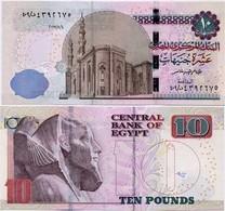 EGYPT       10 Pounds       P-72[b]       4.5.2017       UNC  [ Sign. Amer ] - Egitto