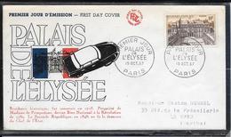 FDC 1957 - 1126  PALAIS De L'ELYSÉE à PARIS - FDC