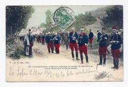 CPA Un Rassemblement D'officiers Français En Temps De Manoeuvres (entre Saint-Dié Et Gérardmer) - Altri Comuni