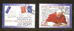 Vatican Vatikaanstad 2008 Yvertn° 1454-1455 (°) Oblitéré Used Cote 4,50 Euro CEPT Europa - Vatican