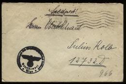 S5566 DR Lettland Feldpost Briefumschlag: Gebraucht Feldpost Riga - Feldpost FP Nr. 12732 1944, Bedarfserhaltung Ohne - Briefe U. Dokumente