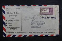 INDE - Enveloppe Commerciale De Bombay Pour Göteborg - L 37559 - 1936-47  George VI