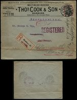 S6063 - DR 40 Pfg Germania Auf Firmen R - Briefumschlag Reise Büro Thomas Cook: Gebraucht Hamburg - New Yersey USA 191 - Allemagne