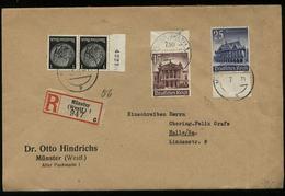 S6257 - DR 15 Pfg WHW Oberrand MiF Auf R - Briefumschlag: Gebraucht Münster - Halle Saale 1941, Bedarfserhaltung , Ver - Briefe U. Dokumente