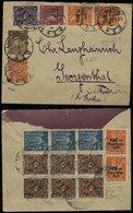 S6616 - DR Infla Rhein - Ruhrhilfe 4x + 231a 3er Streifen MiF Auf Briefumschlag: Gebraucht Osnabrück - Georgenthal 2.7 - Allemagne