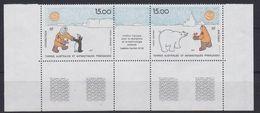 TAAF 1991 Institut Pour La Recherche Polaires 2v+label  (+margin) ** Mnh (44045) - Franse Zuidelijke En Antarctische Gebieden (TAAF)