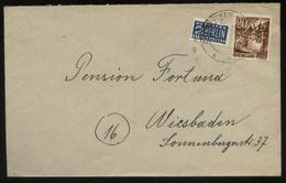 S1618 Französische Zone ,Brief ,gebraucht Mit Notopfermarke Zweibrücken - Wiesbaden 1949 . Bedarfserhaltung. - Französische Zone