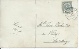 Fantasiekaart Met OCB 81 - Afstempeling DESTELBERGEN Type 2L - COBA 15 - 1893-1907 Armoiries