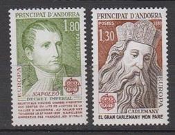 ANDORRE-1980.N°284/285** EUROPA - Ongebruikt