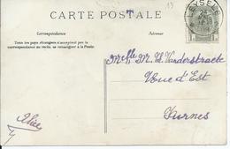 Fantasiekaart Met OCB 81 - Afstempeling LEYSELE - COBA 15 - 1893-1907 Armoiries