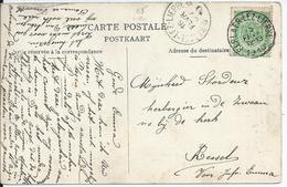 Zichtkaart BERLAER Met OCB 83 - Afstempeling BERLAER-LEZ-LIERRE / KESSEL-LEZ-LIERRE - COBA 15 - 1893-1907 Armoiries