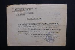 MILITARIA - Attestation Du Haut Commissariat De La République Française En Autriche En 1948 - L 37572 - Dokumente
