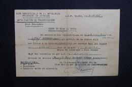 MILITARIA - Ordre De Mise En Route Du Haut Commissariat De La République Française En Autriche En 1948 - L 37573 - Documentos