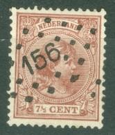 Pays Bas  Yvert  36   Ou  Michel  36   Ob   TB   Obli  Losange 156  Zwijndrecht - Period 1891-1948 (Wilhelmina)