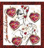 LOT BLOCS COEURS  Saint Valentin(lettre 20g) - Blocs & Feuillets