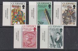 Guernsey 1993 Thomas De La Rue 5v (+margin) ** Mnh  (44046A) - Guernsey