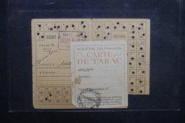 FRANCE - Carte De Tabac En 1946 Avec Timbre Fiscal - L 37582 - Sammlungen
