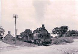 France Bretagne, Chemin De Fer, Train à Vapeur Callac - Villeneuve-Bourbiac, Photo 1963, BVA, RB 557.9 - Bretagne