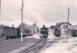 France Bretagne, Chemin De Fer, Train à Vapeur, Callac, Photo 1963, BVA, RB 557.10 - Bretagne