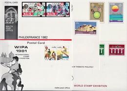 Malta 5 Mint Postal Stationery Cards With Europa CEPT Sets - Malta