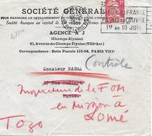 Env. Société Générale 1950-51-52 - Perf. SG 95 Sur 813 Et 886 - France