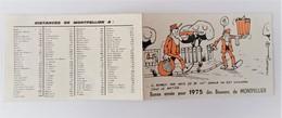Calendrier 1975  Boueurs De  Montpellier  64000 Hérault - Calendriers