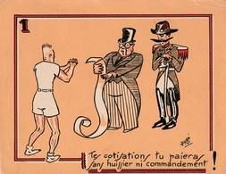 Série De 10 Grandes Images Sur Le Thème Du Tennis - Illustrées Par Jydé - 1941 - Humour - Vecchi Documenti
