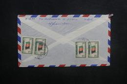 AFGHANISTAN - Enveloppe De Kaboul Pour Paris En 1957, Affranchissement Plaisant Au Verso - L 37591 - Afghanistan