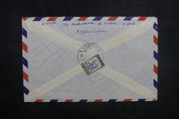 AFGHANISTAN - Enveloppe De Kaboul Pour Paris En 1957, Affranchissement Plaisant Au Verso - L 37592 - Afghanistan