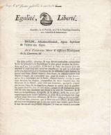Pluviôse An 3 - ARMÉE DES ALPES - RÉQUISITION POUR L'ARMÉE - DULIN Adjudant-Général - GRENOBLE - Historische Documenten