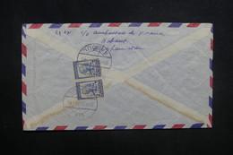 AFGHANISTAN - Enveloppe De Kaboul Pour La France En 1958, Affranchissement Plaisant Au Verso - L 37598 - Afghanistan